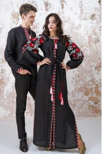 Вышитый комплект для пары «Очарование» черного цвета