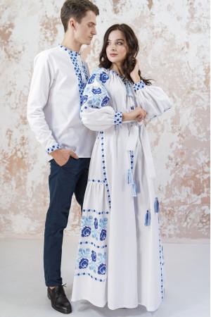 Вишита сукня «Чарівність» білого кольору з клинами