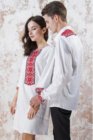 Вышитый комплект для пары «Роскошь-2» белого цвета