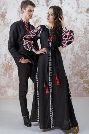 Вышитый комплект для пары «Грация» черного цвета