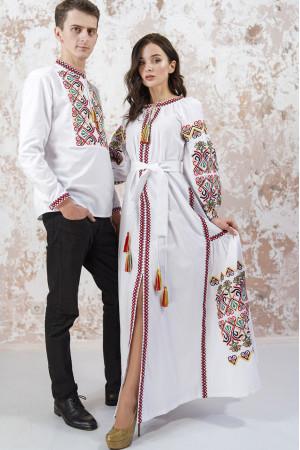 Вишитий комплект для пари «Фортуна» білого кольору