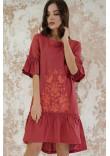 Сукня «Квіткове полум'я» теракотового кольору