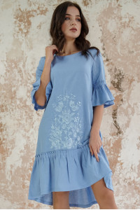 Сукня «Квіткове полум'я» кольору ультрамарин
