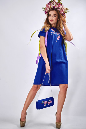 """Платье """"Сакура"""" синего цвета"""
