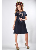 "Платье ""Сакура"" темно-синего цвета"