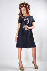 """Сукня """"Сакура"""" темно-синього кольору"""