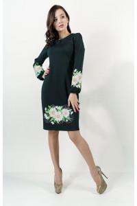 Сукня «Букет ромашок» смарагдового кольору
