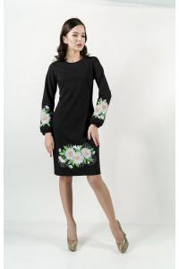 Сукня «Букет ромашок» чорного кольору
