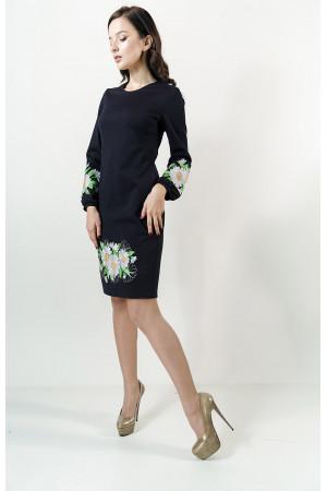 Платье «Букет ромашек» синего цвета