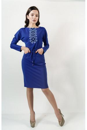 Платье «Заря» цвета электрик
