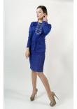 Сукня «Зоря» кольору електрик