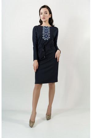 Платье «Заря» темно-синего цвета