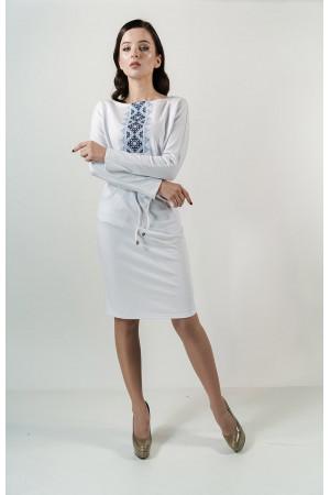 Платье «Заря» белого цвета
