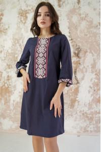 Платье «Роскошь-2» темно-синего цвета