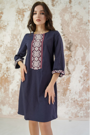 Сукня «Розкіш-2» темно-синього кольору