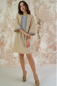 Платье «Роскошь-2» бежевого цвета