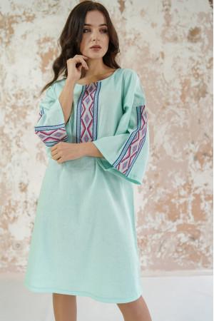 Платье «Гуцулка» цвета светлой мяты