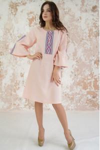 Платье «Гуцулка» персикового цвета