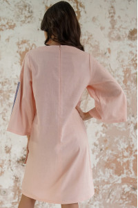 Сукня «Гуцулка» персикового кольору