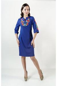 Платье «Цветущее поле» цвета электрик