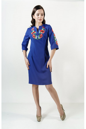 Сукня «Квітуче поле» кольору електрик