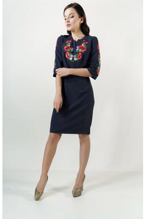 Сукня «Квітуче поле» темно-синього кольору