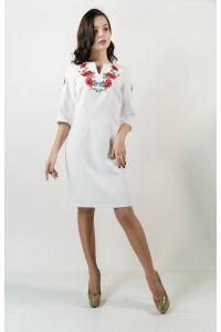 Платье «Цветущее поле» белого цвета