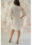Сукня «Український букет» сірого кольору