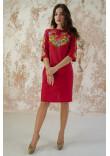 Сукня «Український букет» червоного кольору