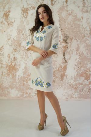 Платье «Васильковые мечты» серого цвета
