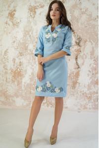 Платье «Васильковые мечты» голубого цвета