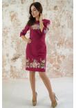 Сукня «Лілея» вишневого кольору