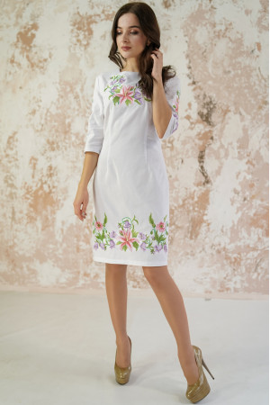 Платье «Лилия» белого цвета