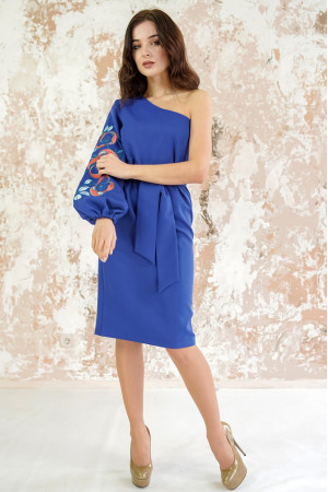 Платье «Цветочный лабиринт» цвета электрик