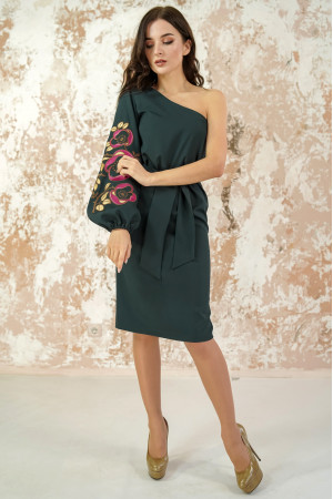 Сукня «Квітковий лабіринт» смарагдового кольору