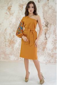Сукня «Квітковий лабіринт» гірчичного кольору
