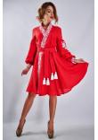 Сукня «Жар-птиця» червоного кольору