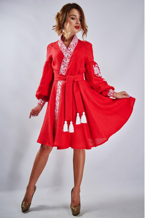 "Платье ""Жар-птица"" красного цвета"