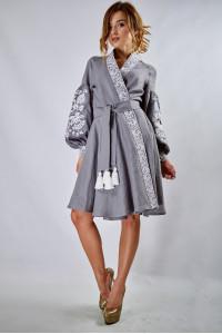 Сукня «Жар-птиця» сірого кольору