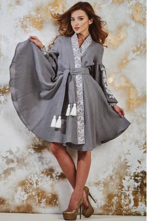"Платье ""Жар-птица"" серого цвета"