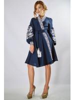 "Платье ""Жар-птица"" темно-синего цвета"