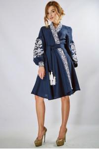 Сукня «Жар-птиця» темно-синього кольору