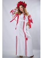 """Платье """"Фантазия"""" белого цвета"""