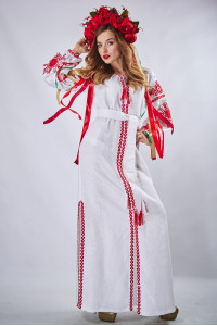 """Сукня """"Фантазія"""" білого кольору"""