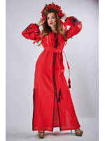 """Платье """"Фантазия"""" красного цвета"""