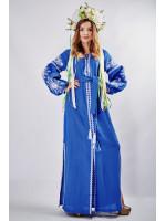 """Платье """"Фантазия"""" синего цвета"""