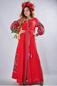 """Платье """"Фортуна"""" красного цвета"""