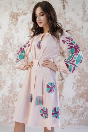 Платье «Магия» персикового цвета