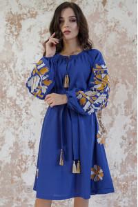 Сукня «Магія» кольору темний електрик