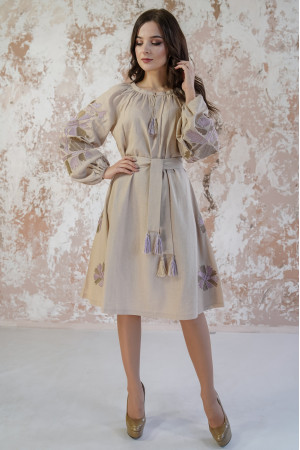 Сукня «Магія» бежевого кольору